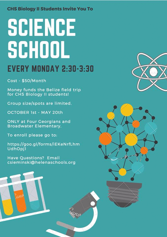 Sign up for Science School Starting in October
